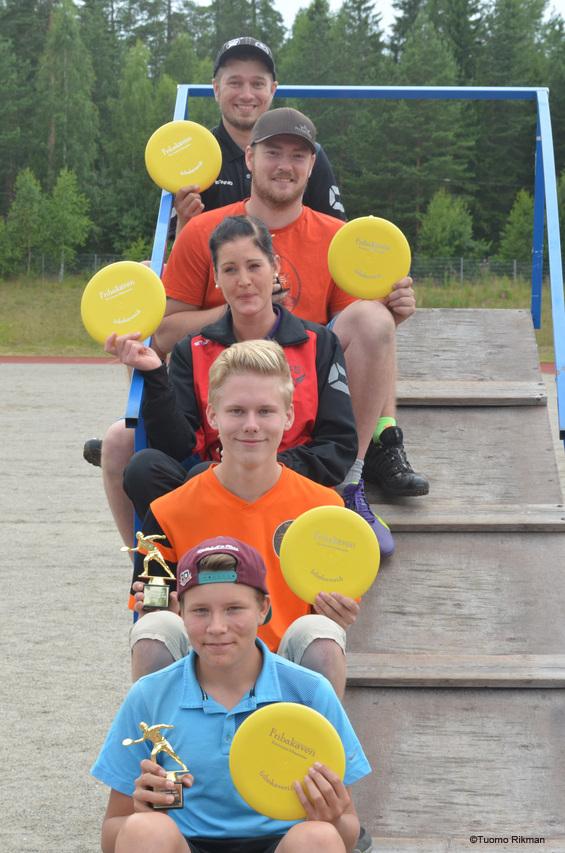 Voittajat ylhäältä alas: Juha Kytö (MA2), Thomas Nylund (MA3), Jenna Ågren (FA2), Aleksi Lohtander (MJ1), Niklas Paajanen (MJ2)